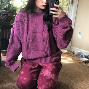 Plum fairy Vintage oversized sweater